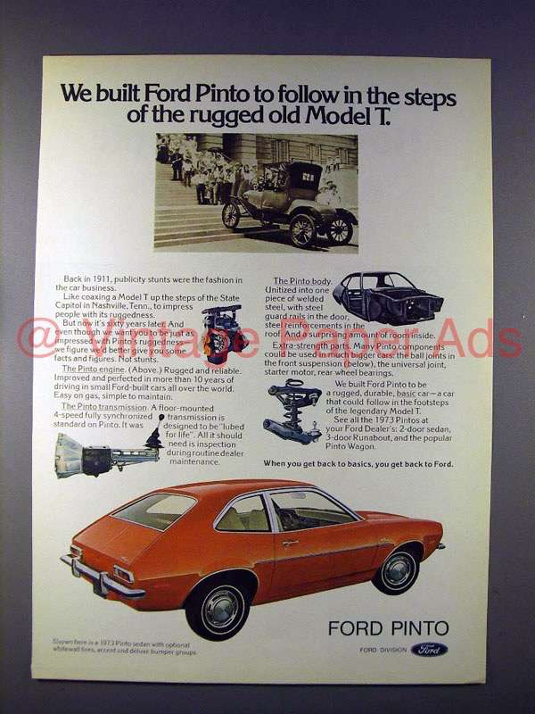 ford pinto paper The paper documents moral disengagement practices in four famous cases   this was not the only case where the ford pinto caused serious accident by.