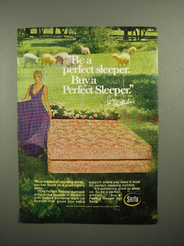 1972 Serta Perfect Sleeper Mattress Ad Joey Heatherton