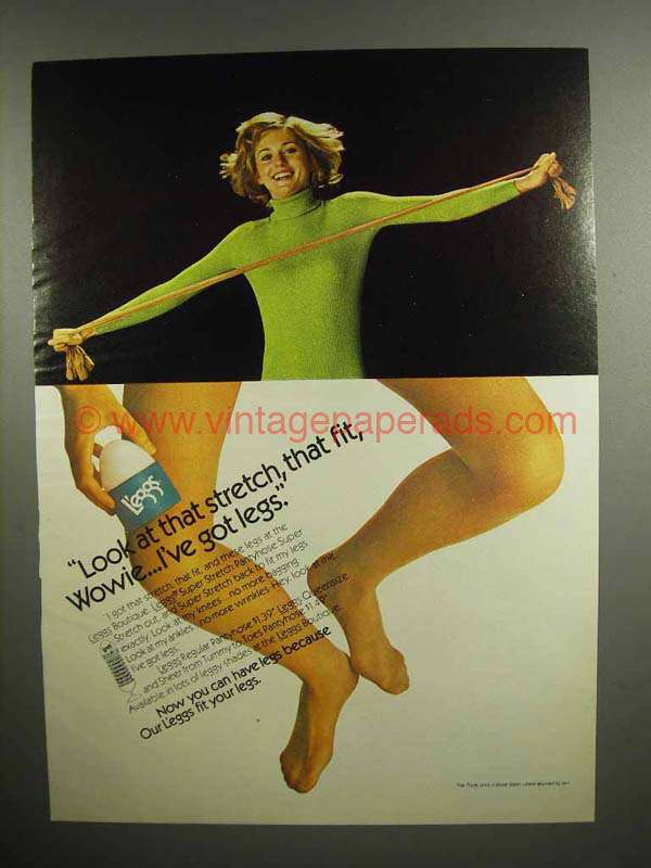 1973 L Eggs Superstretch Pantyhose Ad I Ve Got Legs