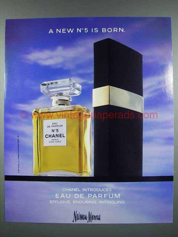 1987 chanel no 5 perfume ad eau de parfum. Black Bedroom Furniture Sets. Home Design Ideas