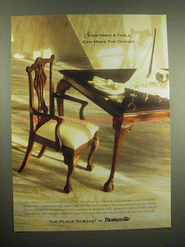 1996 thomasville mahogany collection furniture ad - Thomasville mahogany collection bedroom ...
