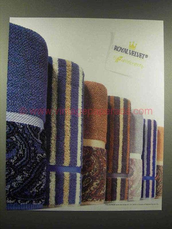 1988 Fieldcrest Royal Velvet Towels Ad
