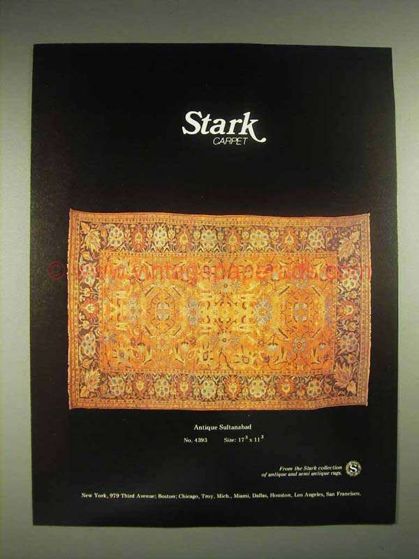 1980 Stark Antique Sultanabad No 4393 Rug Ad