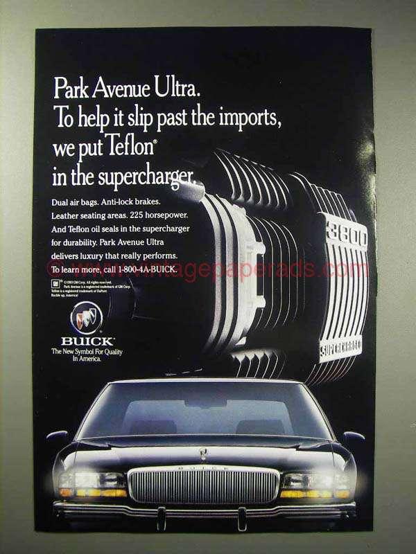 1993 buick park avenue ultra car ad supercharger. Black Bedroom Furniture Sets. Home Design Ideas