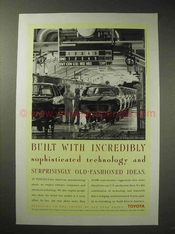 1995 toyota prodution line ad georgetown kentucky