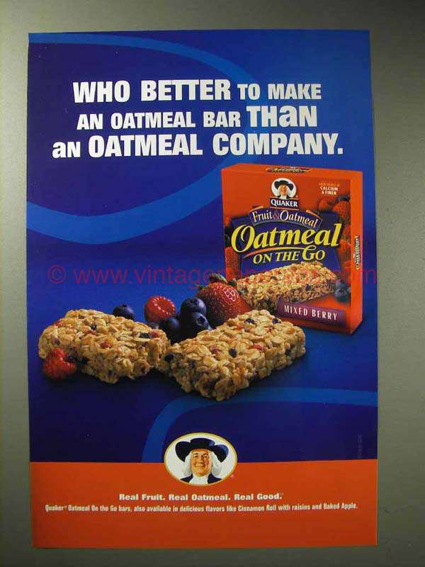 2004 Quaker Oatmeal on the Go Mixed Berry Ad