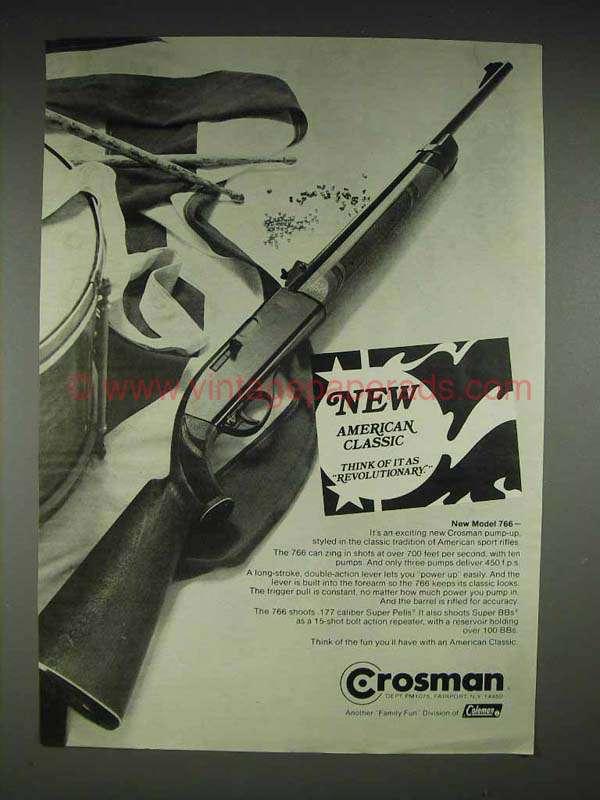 1975 crosman model 766 airgun ad new american classic for New american classic