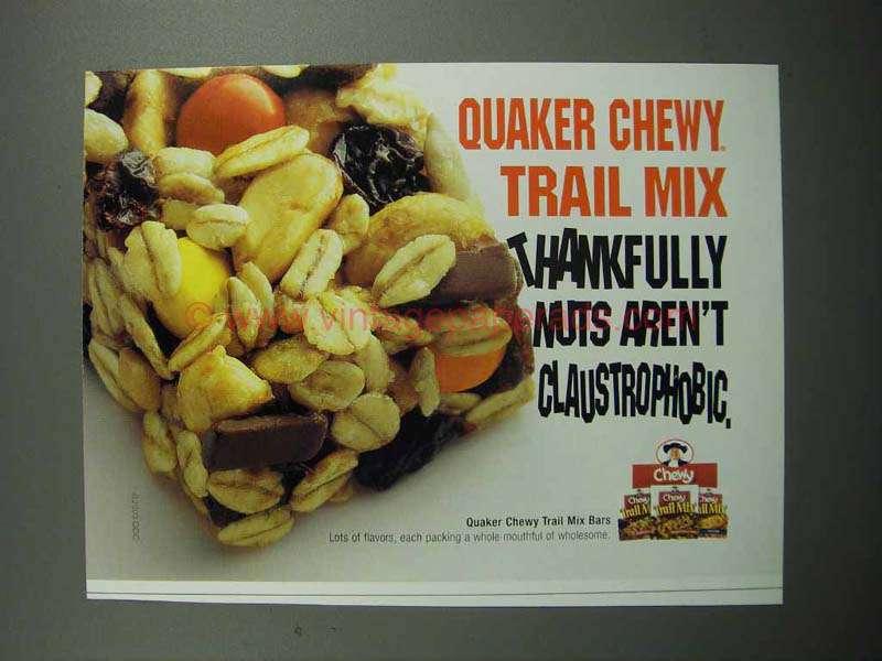 2004 Quaker Chewy Trail Mix Bars Ad