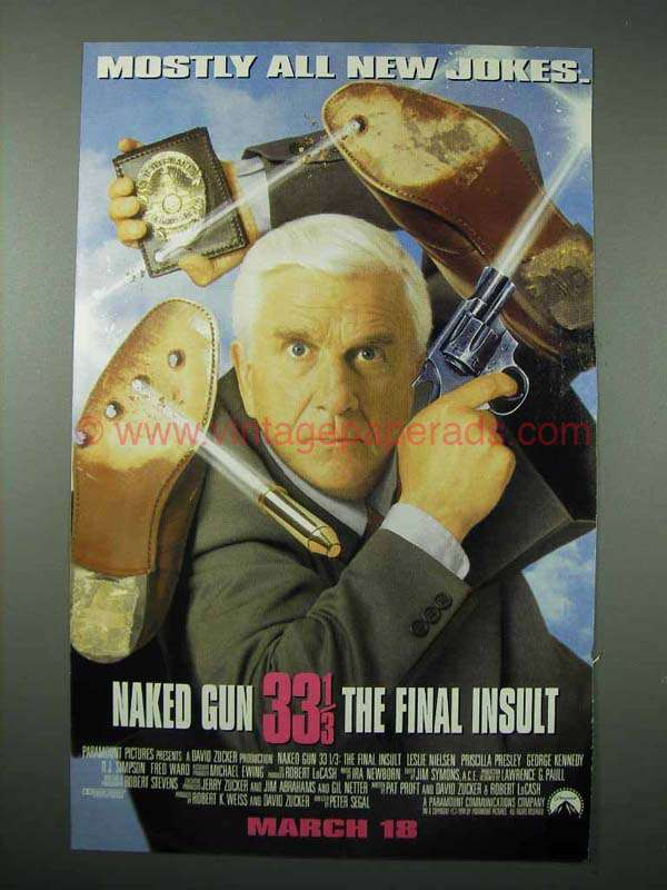 The Naked Gun 33 1/3: The Final Insult (VHS, 1994) for