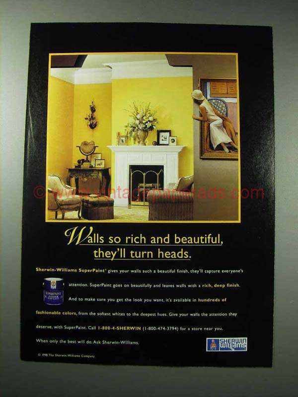 1998 sherwin williams superpaint ad will turn heads for Sherwin williams super paint cost
