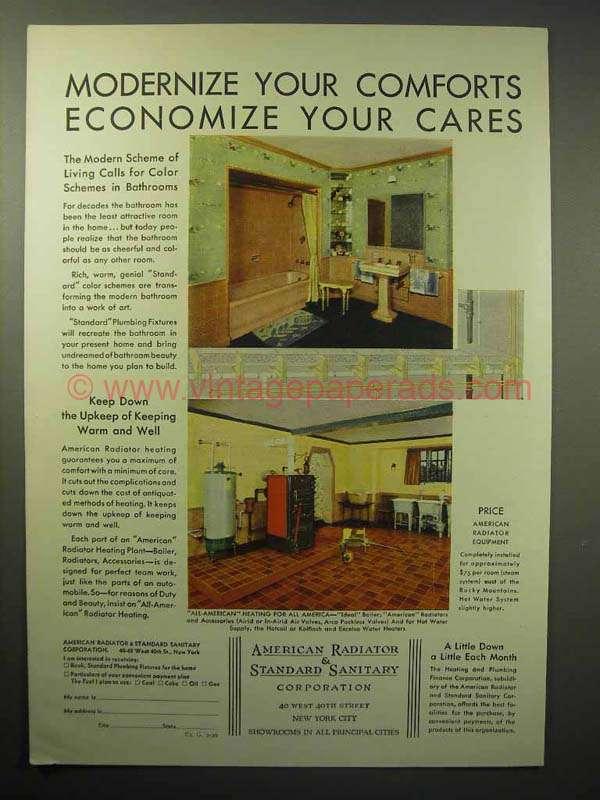 1930 American Radiator Amp Standard Sanitary Ad