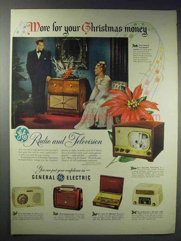 General Electric Fm Am Radio Vaneered Cabi (1949