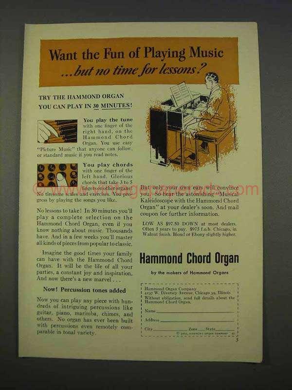 Vintage Organs Online - Buyers/Sellers of Vintage Hammond