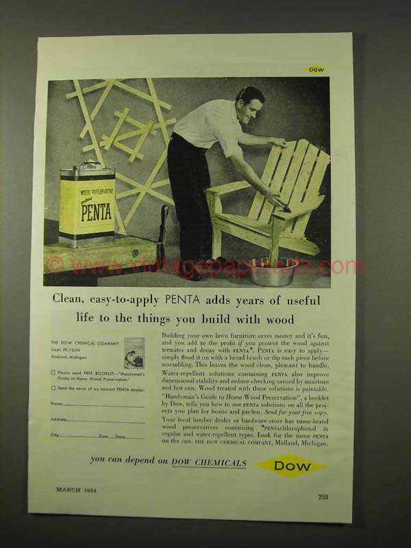 1954 Dow Penta Wood Preservative Ad Years Of Life