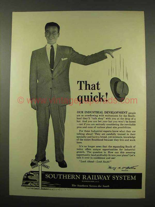 Quick Ads For Beauty Product Blusher Oneminutebriefs: 1956 Southern Railway Ad
