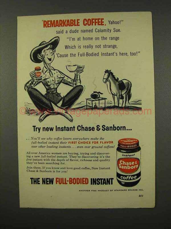 Chase sanborn coffee ad spank