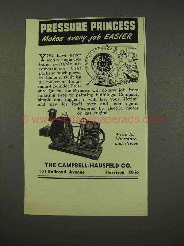 Vintage Campbell Hausfeld Air Compressor : Campbell hausfeld air compressor ad