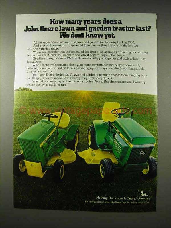 John Deere Tractor Ad : John deere lawn and garden tractor ad