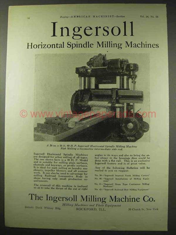 ingersoll rand milling machine