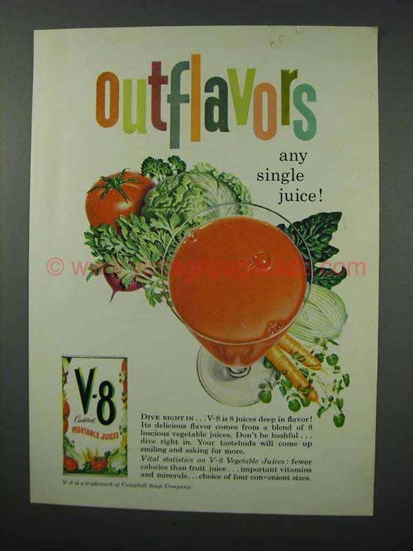 vegetable juice advertisement Juicing fruits and vegetables offers the body a wide array of vitamins, minerals, enzymes and nutrients fresh juices are easy to digest and allow for increased nutrient absorption juicing may help boost the immune system and may increase the elimination of toxins, reducing arthritis symptoms.