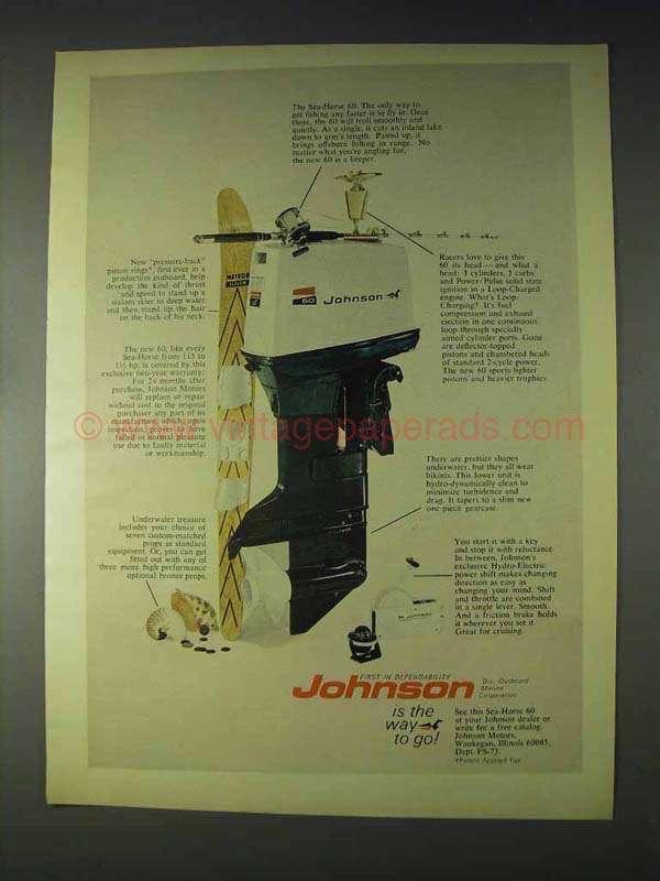 1970 Johnson Sea Horse 60 Outboard Motor Ad