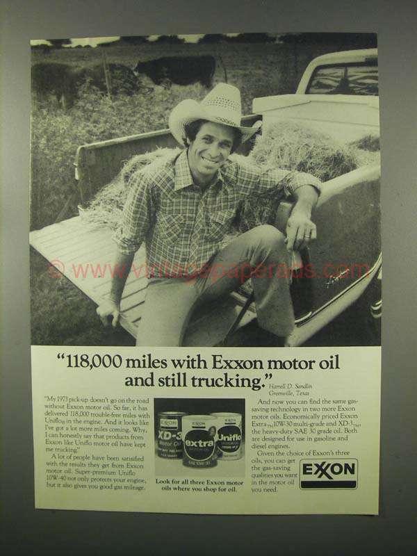 1981 Exxon Motor Oil Ad 118 000 Miles Still Trucking