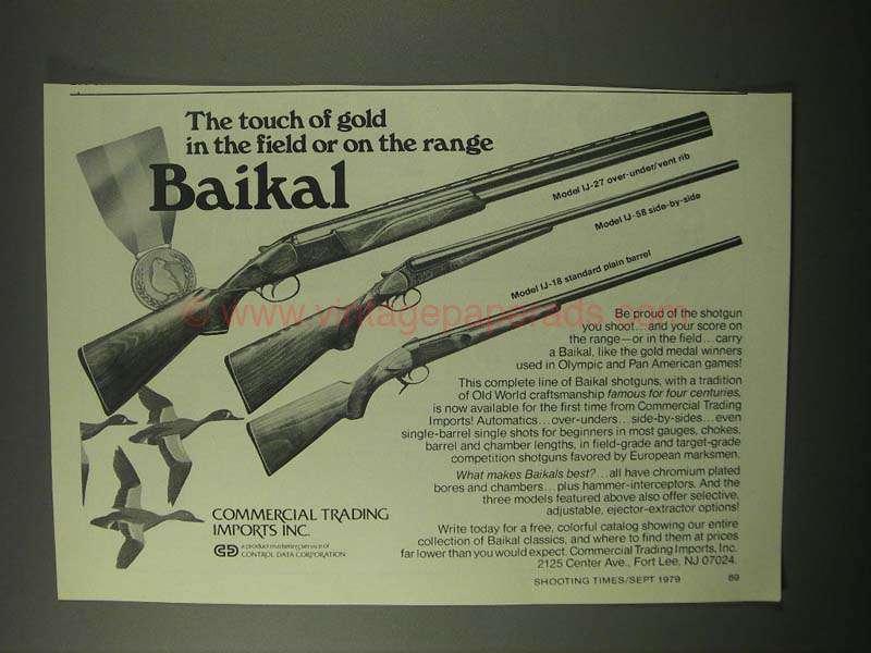 1979 Baikal Model IJ-27, IJ-58, IJ-18 Shotguns Ad