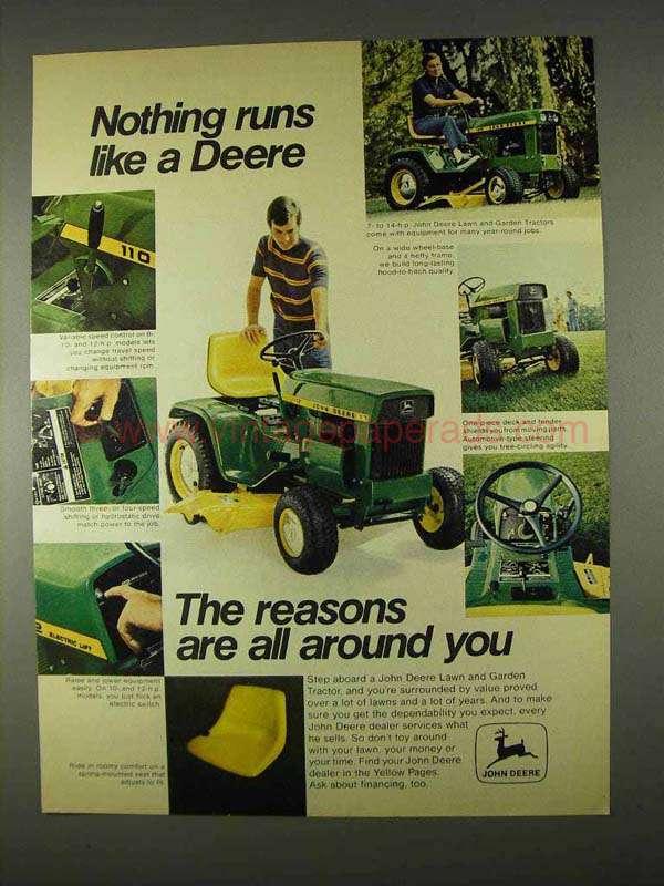 John Deere Tractor Ad : John deere lawn garden tractor ad