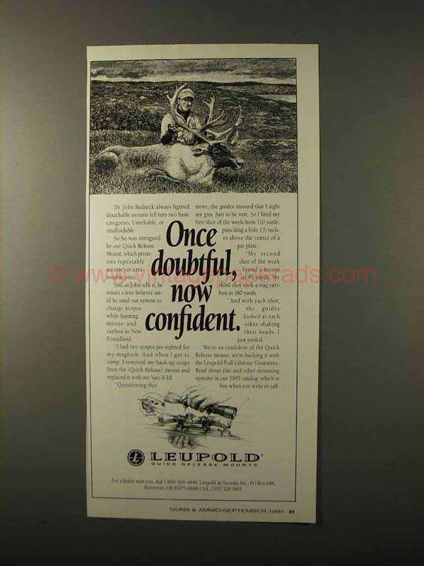 Quick Ads For Beauty Product Blusher Oneminutebriefs: 1995 Leupold Quick Release Mount Ad