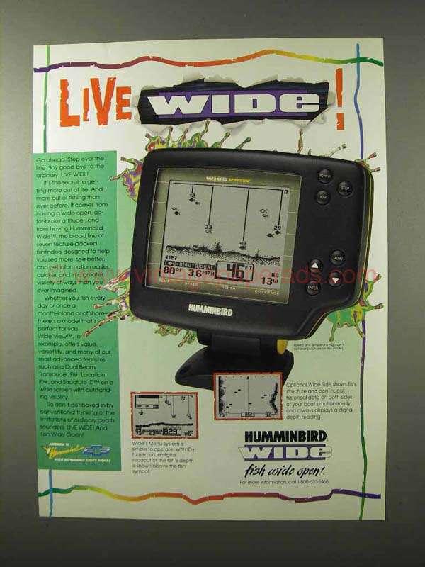 1995 humminbird wide view fish finder ad - live wide, Fish Finder