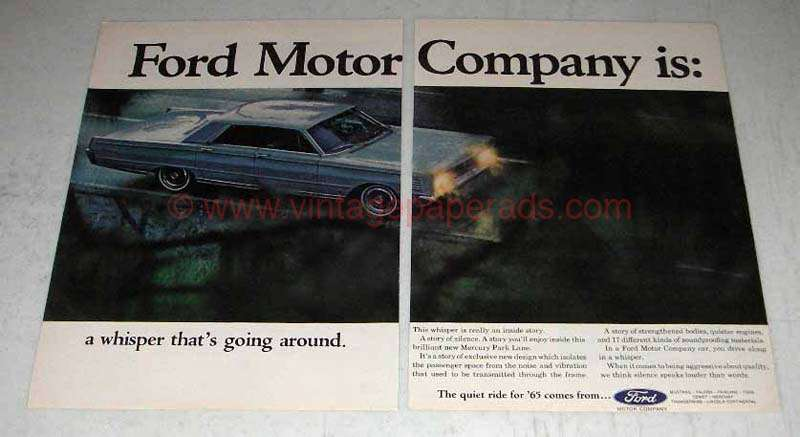1964 Mercury Park Lane Car Ad Ford Motor Company