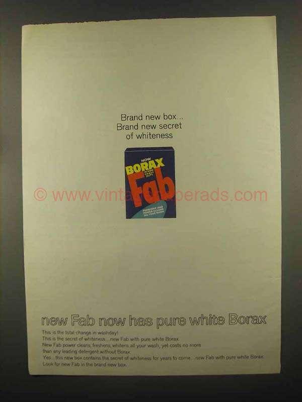 1965 Fab Detergent Ad