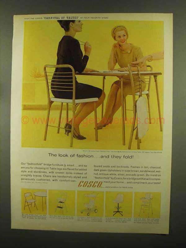 Brilliant 1965 Cosco Ad 60 Ladder Back Chair 70 Folding Table Creativecarmelina Interior Chair Design Creativecarmelinacom