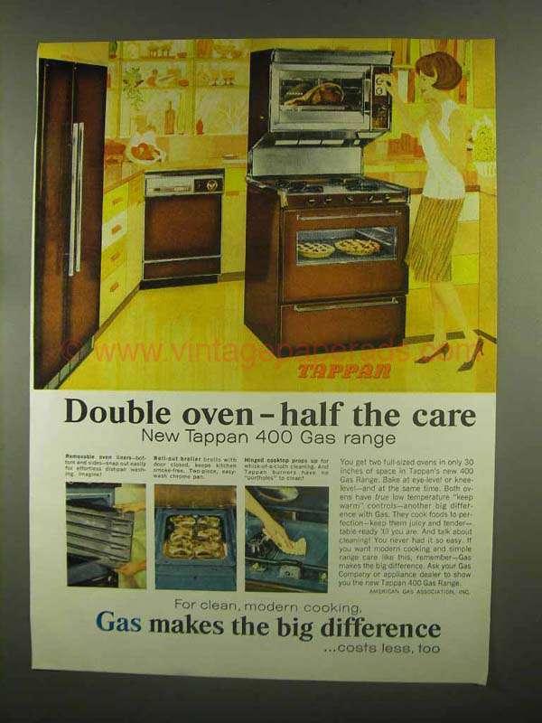 Tappan double oven range 1965 tappan 400 gas range ad double oven