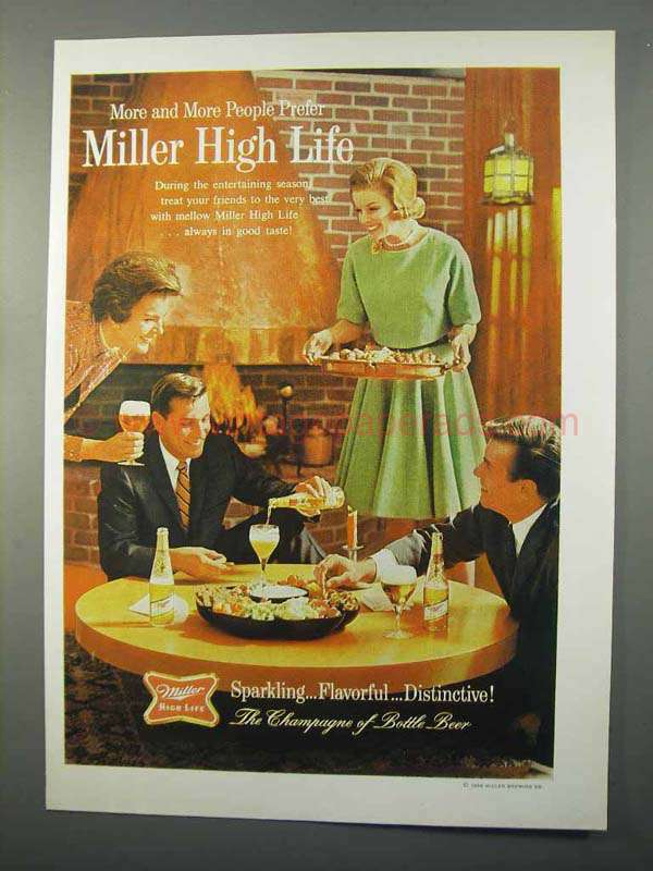 1966 Miller High Life Beer Ad - More and More Prefer