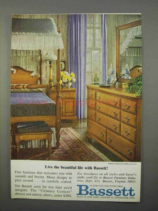 1966 Bassett Chimney Corners Furniture Ad Beautiful