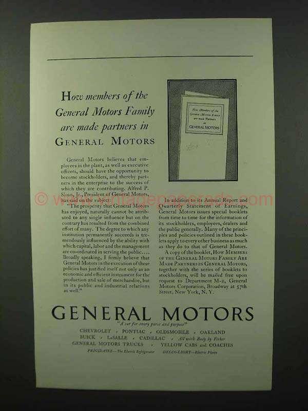 1928 General Motors Ad Members Of The Family