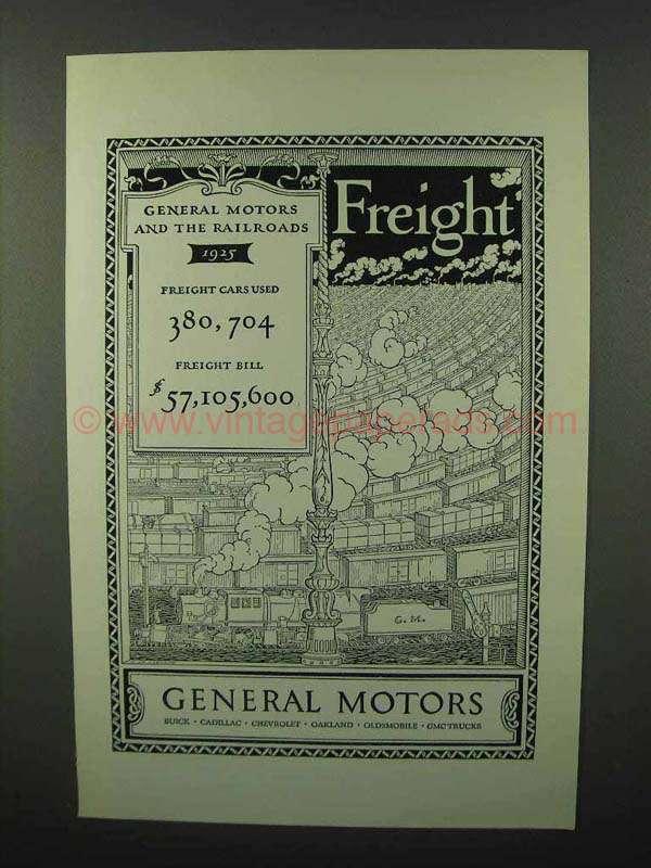 1926 General Motors Ad Freight