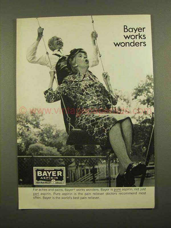 the wonders of bayer aspirin biology essay Aspirin was one of the first drugs to come into common usage and it still finds that adding an acetyl group to salicylic acid reduces its irritant properties and bayer patents the (dose-dependent inhibition of prostaglandin synthesis) (nature new biology 1971231:232) he later.