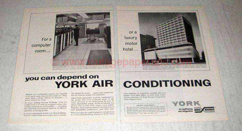 1965 York Air Conditioning Ad Bel Air East Motor Hotel