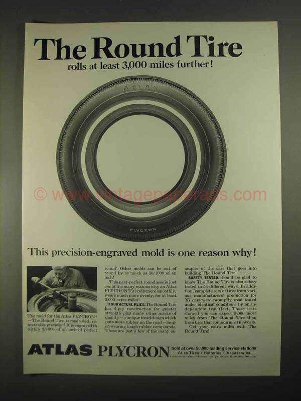 1967 Atlas Plycron Tire Ad - The Round Tire