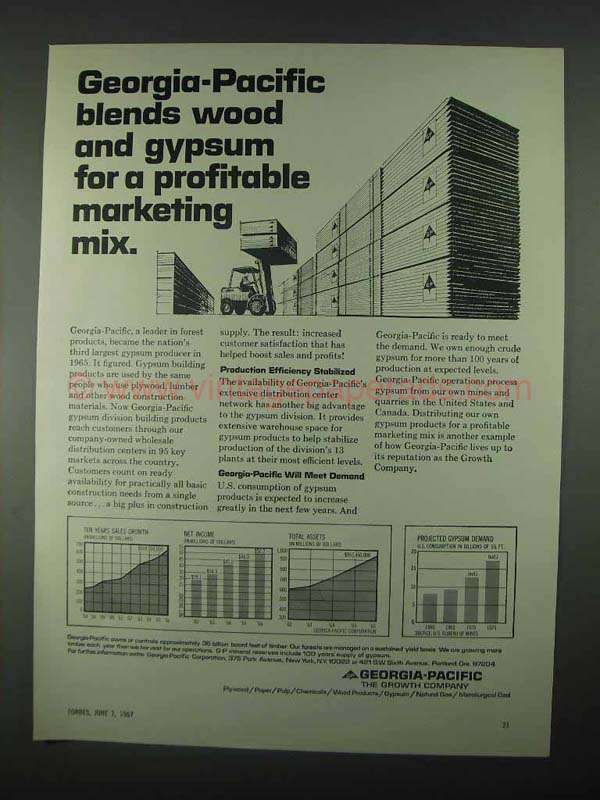 Georgia pacific ad blends wood and gypsum