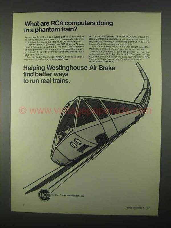 1967 RCA Spectra 70 Computer Ad - Phantom Train
