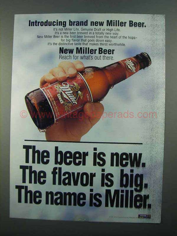 miller beer ads essay