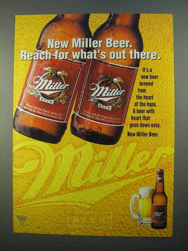 1996 Miller Beer Ad - Reach For What's Out There