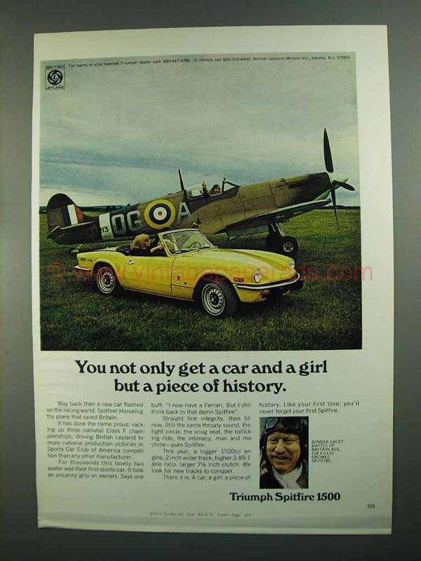1973 triumph spitfire 1500 car ad piece of history. Black Bedroom Furniture Sets. Home Design Ideas