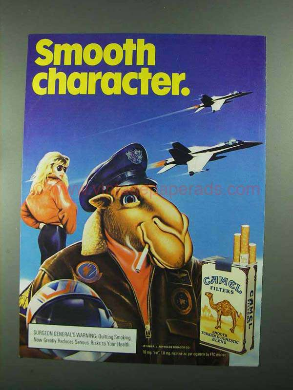 1988 Camel Cigarettes Ad - Smooth Character