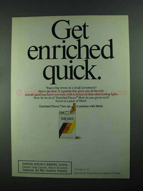 Quick Ads For Beauty Product Blusher Oneminutebriefs: 1988 Merit Cigarettes Ad
