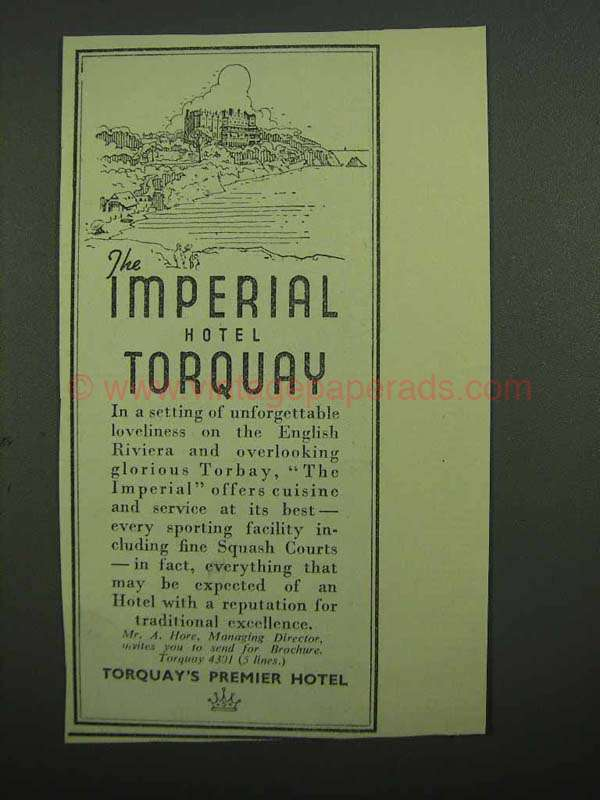 Imperial Hotel Torquay Contact Number