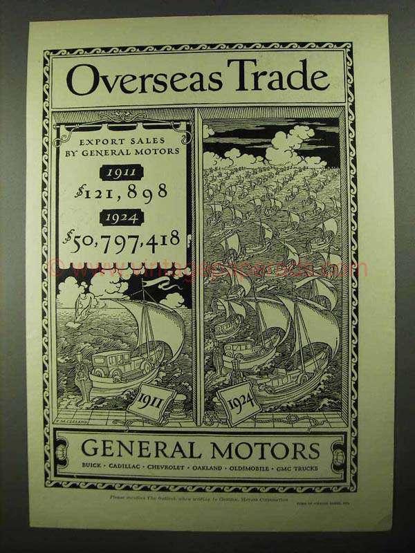 1925 General Motors Ad Overseas Trade